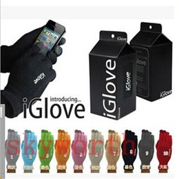 Wholesale Gloves For Iphone - Multi purpose Unisex iGlove Capacitive Touch Screen Gloves for iphone 6 6S Plus ipad Samsung Galaxy smart phone with retail package