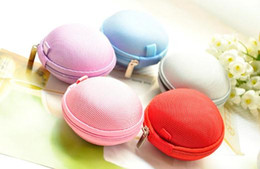Wholesale Hard Case For Headphones - 6 colors Colorful Earbud Carrying Storage Bag Pouch Hard Case for Earphone Headphone USB cable Coin etc.