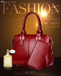 Wholesale Wax Picture - Wholesale-4 Colors New Fashion Women High Oil Wax Paper Bag PU Leather Handbags Women Shoulder Bag Women Messenger Bags Picture In Package