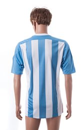 Wholesale Cheap Shirts For Soccer - Argentinal 2015-16 Home Soccer Jersey Thai Quality Soccer Shirts Discount Cheap Football Shirts Customized Agentina Home Soccer Wear for Men