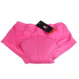 Wholesale Cycling Padded Underwear For Women - Wholesale-M-XXL Women Cycling Underwear Gel 3D Padded Shorts Bike Bicycle Rose Shorts 2 CM Thickness For Long Distance Riding