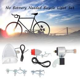 Wholesale Needs Bicycle - Bicycle Lights Set Kit Bike Bright Safety Front Headlight Taillight Rear Light No Batteries Needed For Outdoor Cycling Safety Warning Light