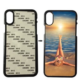 Wholesale Wholesale Blank Iphone Cases - Plastic Sublimation Case For iPhone 6 6s Plus 7 8 Plus X 4S 5S SE Cover 2D Sublimation With Blank Metal Inserts