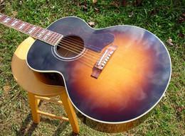 Wholesale Best Acoustic Electric Guitar Strings - Best selling Hotbest guitar J-185 Jumbo Acoustic Fishman Ellipse Aura Vintage Sunburst CLEAN electric guitarExcellent Quality