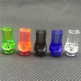 Wholesale Ego Mouth Tips - Colorful Plastic Drip Tip 510 Drip Tip Flat Mouth Mouthpiece Drip Tip Transparent Colorful Drip Tip For Ego Atomizer Ego Battery DHL Free