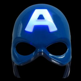Wholesale Toys For Schools - Marvel's The Avengers LED Children Film Mask Captain America Cartoon Anime Kids Mask Cosplay Performance Costume Children Toys Gifts 10pcs