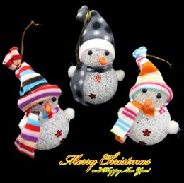 Wholesale Childrens Doll Wholesale - Seven Colors Light Up Christmas Snowman Doll Beautiful Christmas Gift for Kids Childrens' Christmas Toys Children Bedroom Christmas Deco