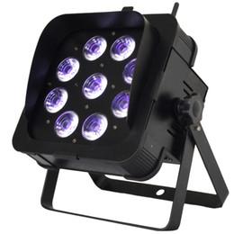 Luci dmx senza fili della batteria online-Par Light LED DMX Wireless alimentato a batteria con 9pcs RGBWA Lampada a led UV Telecomando a infrarossi