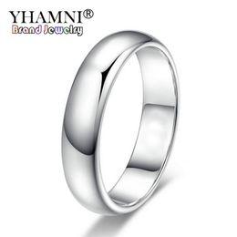 Selos do anel de ouro on-line-YHAMNI Perder Dinheiro Promoção Real Pure White Gold Anéis Para Mulheres e Homens Com 18KGP Selo 5mm Top Quality Gold Cor Anel Jóias BR050