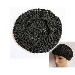 Wholesale Net Wigs - Promotion Fishnet Wig Cap Women Hair Net for Sleeping Nice Sleep Cap Snood Cover Hair Net Snood Wig Cap Hair Net Black Color
