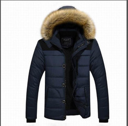 Wholesale Men Cashmere Fur Coats - AD The winter men's cotton coat raccoon fur collar hooded casual coat size male cashmere plus thick jacket factory outlets 6692