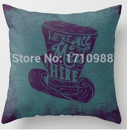 Wholesale Alice 18 - Wholesale-Two sides printing Alice in Wonderland Pillow Cases for 12 ''14'' 16'' 18'' 20''