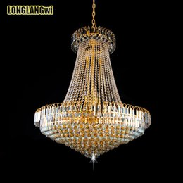 Wholesale Empire Chandeliers - Free Shipping HOT Royal Empire Golden LED modern Crystal Chandeliers Light French