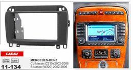 Wholesale Radios Mercedes Benz - CARAV 11-134 Top Quality Radio Fascia for MERCEDES-BENZ CL-klasse(C215)S-klasse(W220)Stereo Fascia Dash CD Trim Installation Kit