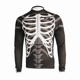 Wholesale Long Sleeve Skeleton Shirt - Wholesale-New Men's Long Sleeve Cycling Jersey Shirts Only EOCLJ06 Skeleton
