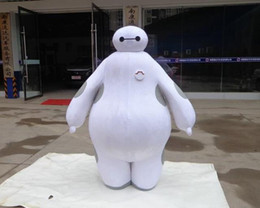 Wholesale Cartoon Hero Costumes - 100% real images suit Big Hero 6 Baymax Mascot Costume Cartoon Adult Size Big Hero mascot EMS Free Shipping