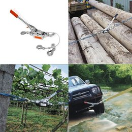 Wholesale Boat Winches - FREE SHIPPING HEAVY DUTY 2 TON 2 HOOK CABLE PULLER HAND WINCH TURFER FOR CARAVAN BOAT TRAILER