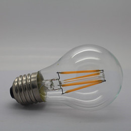 Wholesale Wholesale Light Covers Glass - Glass covering 4w led filament bulb indoor decorative decor e27 b22 e14 led filament bulb light