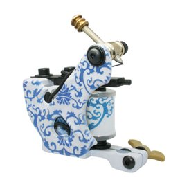 Wholesale Carbon Steel Stamping - High-end low-carbon Steel Handmade PorcelainTattoo Machine Gun Permanent Makeup 10 Wrap Coils Tattoo Gun For Body&Art 1104102-3