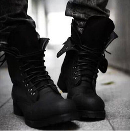 Cheap Black Leather Combat Boots Men | Free Shipping Black Leather ...