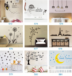 Wholesale Free Decal Stickers - Mix Order Wholesale Removable Home Decals Kids Room Wall Stickers Nursery Wall Decor 50x70cm Wall Art Free Shipping