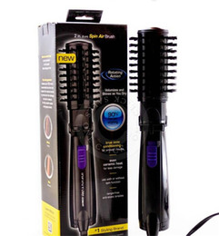 Wholesale Hair Styling Brush Rotating - New Ifiniti Pro Hot Air Spin Hair Styler Roller Spin Air Brush Ceramic Hair Curler Electric 2 Inch Rotating Hair Styling Tools Comb