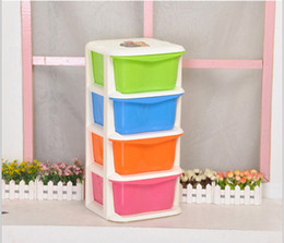 Wholesale Manufacturers Layer drawer storage cabinets lockers thick durable plastic children s bedroom cupboard finishing