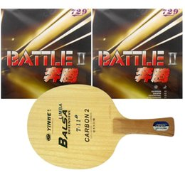 Wholesale Combo Table - Wholesale- Pro Table Tennis PingPong Combo Racket Galaxy YINHE T-11+ with 2x RITC729 Battle II Tacky Long Shakehand FL