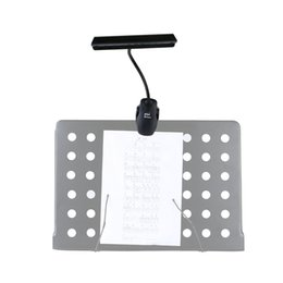Wholesale Light Bulb Adapter Leds - ENO Flexible 9 LEDs 2 Modes Clip On Light Lamp for Music Stand Adjustable clamp Battery USB Cable Adapter Powered order<$18no track