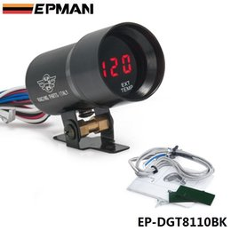 Wholesale Exhaust Gas Temp - Tansky - JDM Universal 37mm Micro Digital Gauge Auto Red Led Exhaust Gas Temp EGT Gauges Car Vehicle Meter Black Color EP-DGT8110BK