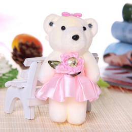Wholesale Wholesale Valentine Bear Bouquet - 12 cm 12pcs Soft Plush Toy Bouquet Teddy Bear Bouquet Cartoon Doll with PP Cotton Rose Valentine Graduation Gift Pink