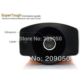 Wholesale Laser Pointer Distances - Wholesale-Retail-B Ultrasonic LCD Laser Pointer Distance Measurer Range Finder Meter Test 60FT Tool