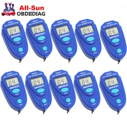 Wholesale bmw auto manual - 10pcs Lot Digital Thickness Gauge Coating Meter Car Thickness Meter Auto Thickness Tester EM2271 All-Sun English&Russian Manual