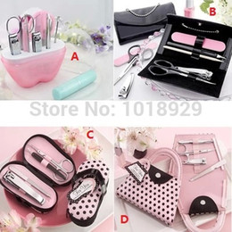 Wholesale Wholesale Personal Care Kit - 5 Sets Lovely Christmas gift Nail scissors Vogue Nail Care Personal Manicure Pedicure Set, Travel Grooming Kit