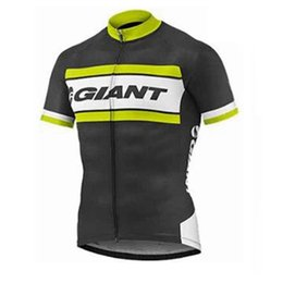 Wholesale Mtb Shorts Giant - New Pro Team Giant Cycling Jersey Short Sleeve shirt Ropa Ciclismo MTB Bike Clothing Quick Dry Bicycle Clothes Summer Sportswear A1304