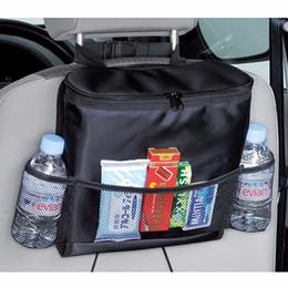 Wholesale Car Door Insulation - Wholesale- New Car Seat Back Multi-Pocket Insulation Storage Bag Organizer Travel Storage Bag Hanger