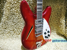 Wholesale Burst Cherry - Custom 370  12 Strings electric guitar Cherry burst Guitars 12 Strings Guitars Free shipping