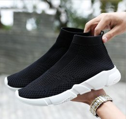 Wholesale Ups Trade - Free Shipping 2017 autumn new foreign trade couple lazy large size socks shoes sneakers men and women running outdoor travel sneakers size35