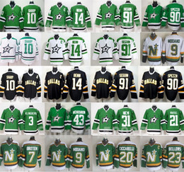 Wholesale Dallas Hockey Jerseys - 2016 Dallas Stars Hockey 10 Patrick Sharp Jerseys 14 Jamie Benn 90 Jason Spezza 91 Tyler Seguin 9 Mike Modano Throwback Jersey