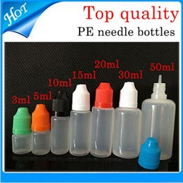 PE Bottiglia vuota 500PCS 5/10 ml Bottiglie di plastica con contagocce Tamper proof Caps Consigli di sicurezza LDPE E Vapor Cig Sigaretta elettronica di sigarette E cig da