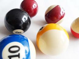 Wholesale Pool Balls Cues - Wholesale- Free shipping 2pcs lot Single Billiard Cue Balls 52.5mm Resin Pool Balls Nine-ball Balls Billiards accessories