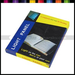 Wholesale Lightwedge Led Book Light - Wholesale-Portable reading book led light panel at night , lighting fixture , lightwedge ,With Original Package #1494