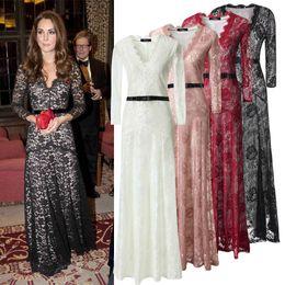 Wholesale Lace Maxi Dress Sale - 2016 Hot Sale Celebrity Sexy Lace Floor Length Maxi Dresses(Plus Size Available)