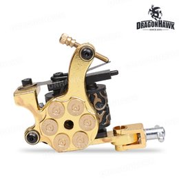 Wholesale Iron Materials - Tattoo supply one pc Tattoo Machine Gun 10 Wrap Coils VWQ4846-2