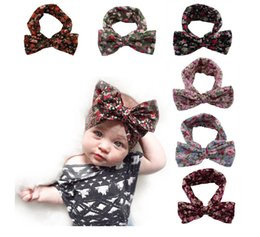 Wholesale Cheap Hair Bows Free Shipping - 2016 baby elastic cotton hair band children's irregular hair band Pretty bows cheap wholesale fashion headband free shipping 20pcs