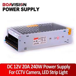 Wholesale Cctv Camera Power Lead - Power supply 12V 20A 240W DC Switching CCTV Power Supply Transformer LED CCTV Camera DVR Security