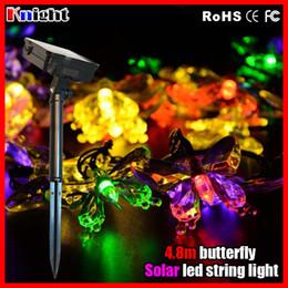 4.8m 20lamps solare stringa di luce a farfalla, luci solari a led solari a corda di luz per la decorazione di natale giardino insetto luci a led solari insetto da
