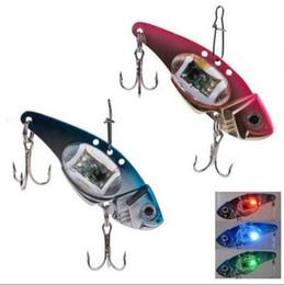 Sinken beleuchtung online-Unterwasser Sinking Flashing LED Licht Fischköder Fischköder mit Stahl Haken Licht Blinkt Lampe Angelhaken OOA3581