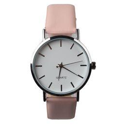 Wholesale Girl Hour - Elegant Simple Thin Lady Women's Watch Quartz Fashion Fine Hours Dress Leather Bracelet Girl Birthday Gift