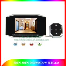 Wholesale Door Peephole Camera Motion - New 3.5 LCD Digital Video Door Viewer eye Doorbell Camera Peephole 4X Zoom 120 Wide angle Auto Motion Detection Night vision